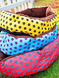 Новая красочная мягкий нетканый питомец теплая постель дома для собак кошек домашних животных плюшевые гнездо мат площадку коврик #s (40 * 30) см