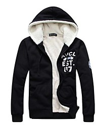 Men's Sports Casual Thick Fleece Hoodies (Neck Label Random)