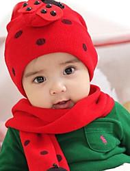 bebé unisex gruesa sombrero rojo de punto (bufandas)