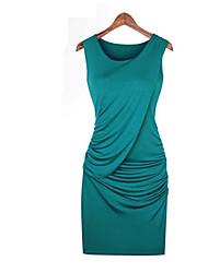 tutto il vestito Sleevless colore solido fiammifero delle donne E.9