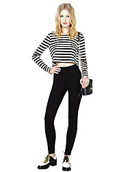 Abigail Stripes Fashion Fitted Long Sleeve Shirt