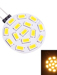 g4 1.9W 570lm 3200k 15x5730 warmweiße LED Glühbirne (dc 10-30)