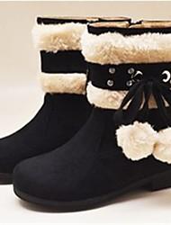 Botas ( Negro/Marrón/Rosado ) - Botas de nieve - Ante
