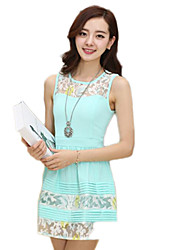 Women's Dresses , Chiffon/Lace Lace/Cute