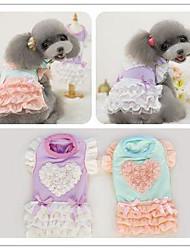 Fashionable Sweet Cute Pet Princess dress Clothes for Dog Pet Product Dog Apparel Terylene XS&S&M&L Purple&Green