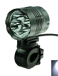 3-Mode  4 x Cree XM-L T6 White Light Cycling Bicycle Headlamp (3000lm, 6 x 18650)