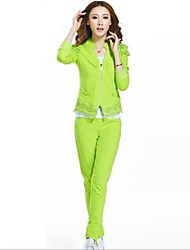Women's Long Sleeve Casual Suit (Coat & Pant)