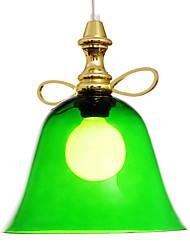 luz moderno pingente sino de ouro
