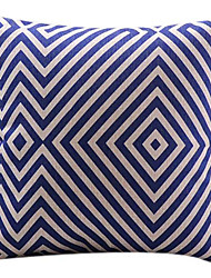 Visual diamante azul de algodão / linho fronha decorativo