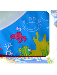 70*70*1.5cm Children's Fish Pattern Magic Water Painting Mat Board with 2 Pens Environmental Novelty Toys