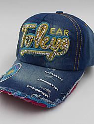 EASAN Jeans Distressed Letter Diamonade Baseball Cap Ywbzs078