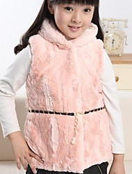 Girl's Fur Quilted Vest Coats(More Colors)