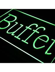 i385 Buffet Cafe Restaurant Dinner OPEN Light Sign