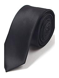 5 CM Wide Black Silk Tie