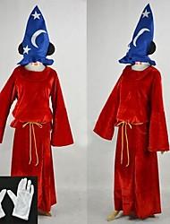 Costumes de Cosplay / Costume de Soirée Cosplay Fête / Célébration Déguisement Halloween Rouge Mosaïque Gants / Cape / Chapeau Halloween