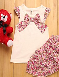 Girls Children's Cute Cake Baby Girl Grow Short Sleeved Onesie Jumpsuits
