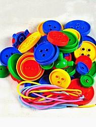 bouton de protection de l'environnement des enfants en forme de blocs de construction en plastique