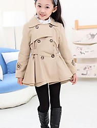 Girl's Fashion Ladies Double Breasted Trench Coats