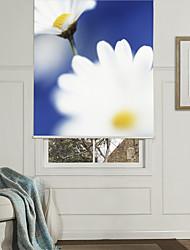 Botanic Style White Flowers Roller Shade