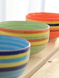 Rainbow Hand-painted Ceramic Bowl Random Color,15X15X7CM