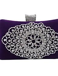 Мисс ricy Женская мода бархат и кристально вечер сумки / муфты (больше цветов)
