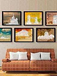 l'art de la décoration du bâtiment classique à la copie encadrée de toile un ensemble de 6