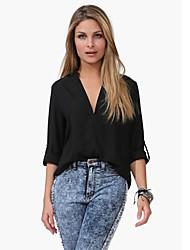 ORG Women's Leisure Long Sleeve Half Sleeve Blouse