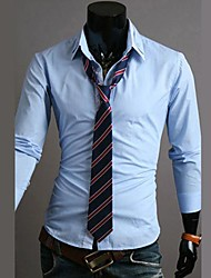 Mens striped long-sleeved shirt hit the color