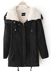 Manteau ( Mélanges de Coton ) Normal - Décontracté - Epais à Manches Longues
