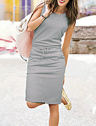 BALI Fashion Solid Color Simple Causal Sleeveless Dress