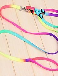 1 peças coloridas de tração tiras no peito corda para animais de estimação cães (multicolorido)