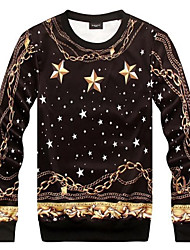 Men's Fashion Print Stars 3D Sweatshirt