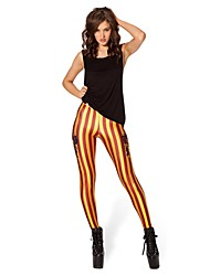 calças do punk gryffindor leggings leggings listras vermelhas e ouro