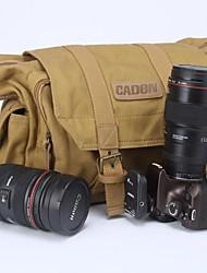 Caden f1 водостойкость холст путешествия плечо объектив камеры флэш мешок видео сумка для Nikon канона