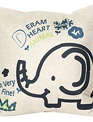 """createforlife® 18 """"retro Cartoon-Elefanten-Slogan Baumwoll-Leinen-Quadrat dekorative Kissen"""
