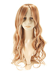 Capless Long Straight Light Ash Blonde  Wigs Side Bang