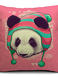 país panda algodão / linho fronha decorativo