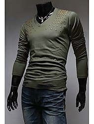 Coolguy Men'S Diamonaded Print Long Sleeve  T-Shirt
