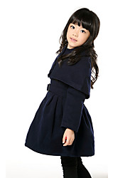 SQM Girls' Cappa and Dress Two Pieces Suit