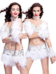Performance Women's Feather And Rhinestone Samba Dance Outfit