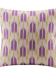 Abstract Purple Flower Cotton/Linen Decorative Pillow Cover
