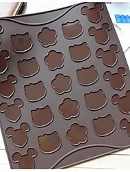 bolinhos de amêndoa desenhos animados tapete redondo, silicone 29 × 26 × 1,5 cm (11,4 × 10,2 × 0,6 cm)