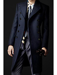 Men's Double Breasted Slim Coat