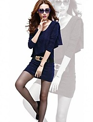 Women's  Korean Autumn Fashion Bodycon Charm  Long  Sleeve Dress