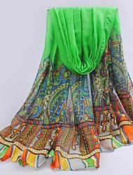 vert fil de bali surdimensionné écharpe des femmes