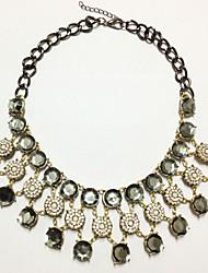 Hohot europäischen Stil übertrieben diamonade necklace_necklace: 46 + 6 cm # n0059
