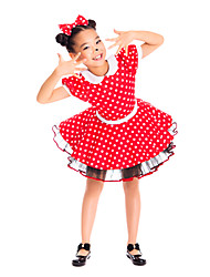 Performance Kids' Fantastic Polka Dots Spandex Tulle Dress Kids Dance Costumes