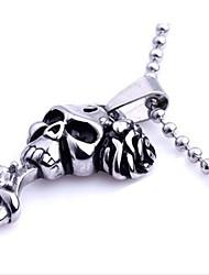 Men's Fashion Personality Restoring Titanium Steel Skeleton Pendant Necklaces