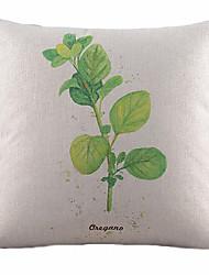 fresco roundleaf algodão / linho capa almofadas decorativas
