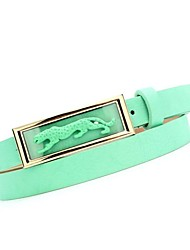Women's Fashion And Personality Leopard Head Candy Color Belt